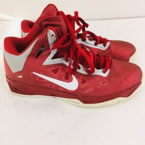 Nike Red Lace Up Athletic Sneakers
